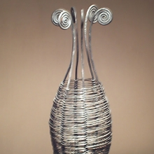 Wire bottle candle holder