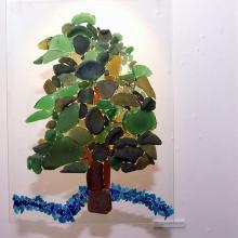 Glassy Tree after Hockney